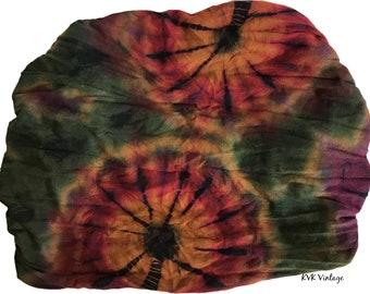 Green Thai Tie Dye Headwrap - Boho Headband - Hippie Headband - Fair Trade