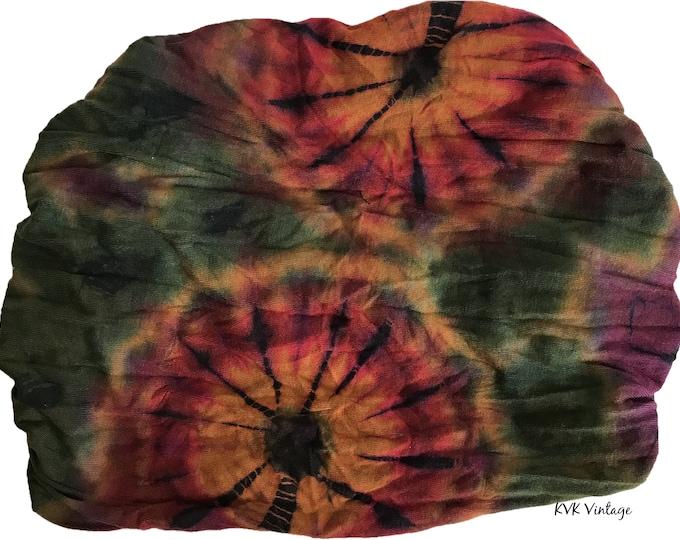 Featured listing image: Green Thai Tie Dye Headwrap - Bohemian Headband - Boho Head Wrap - Fair Trade