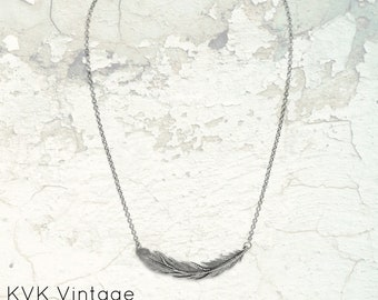 Feather Oxidized Necklace - Sterling Silver Necklaces - Feather Jewelry