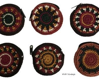 Round Crochet Coin Purse - Fair Trade - Change Purse - Coin Pouch - Crochet Pouch