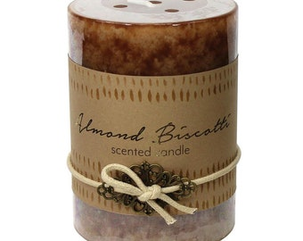 Almond Biscotti Pillar Candle -  Candle - Scented Candle -  Home Decor - Home Accessories