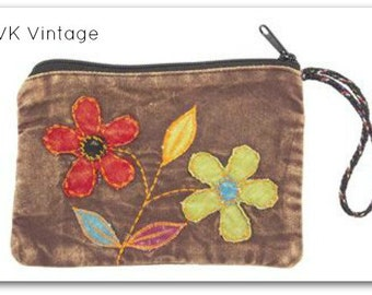 Floral Coin/Jewelry Purse -  Coin Purse - Wristlet - Phone Wristlet - Accessory Wristlet - Jewelry Purse - Accessories - Bohemian