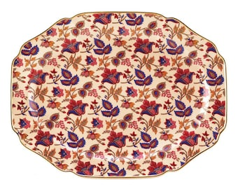 Jaipur Cream Serving Platter - Decorative Plates - Platter - Home Decor - Home and Living -  Holiday Plates - Christmas Plates