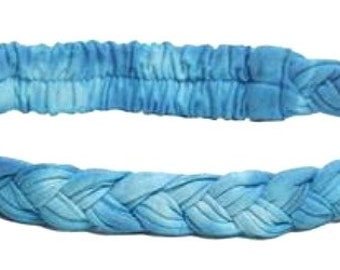 Blue Thin Braided Headband -  Bohemian Headbands - Fair Trade Headbands - Hippie Headbands
