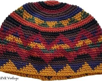 Earth Kufi Skull Cap - Crocheted Beanie Hat - Fair Trade