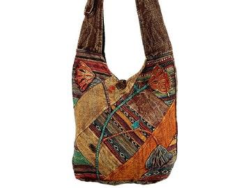 Patchwork Sling Bag - Crossbody Bags - Sling Bags - Fair Trade Bags - Bohemian Handbags