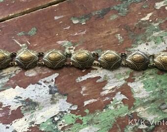 Vintage Fancy Brass Bracelet - Brass Bracelet - Vintage Bracelet - Costume Jewelry - Bracelets for Women