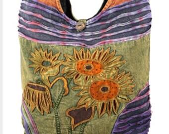 Sunflower Crossbody Sling Bag - Crossbody Bags - Fair Trade Bags - Bohemian Handbags