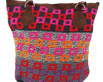 Colorful Guatemalan Tote Bag - Fair Trade Handbags - Shoulder Bags - BOHO Handbags