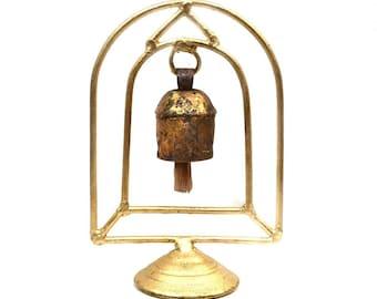 Temple Bell Stand - Bells - Fair Trade - Rustic Bells - Home Décor