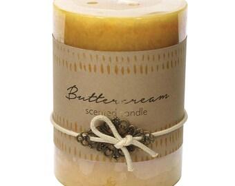 Buttercream Pillar Candle - Christmas - Candle - Scented Candle -  Christmas Candle - Christmas Decor