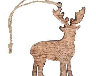 Wooden Reindeer Ornament - Home Décor - Ornaments - Fair Trade