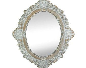 Vintage Taupe Mirror - Decorative Mirror - Home Decor - Accent Mirror - Shabby Chic Mirror - Vintage Mirror - Ornate Mirror - Painted Mirror
