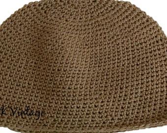 Vintage 1970s Black Lurex Halston Cloche Hat Retro Disco Skull Cap Black Lurex Yarn Shimmery Crochet Designer Hat