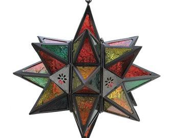 Moroccan Multi-Colored Star Lantern - Lighting - Lanterns - Star Lantern - Home Decor