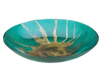 Blue Decorative Bowl Etsy