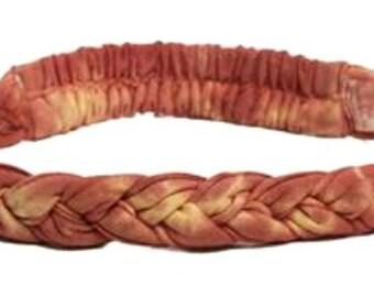 Multi Color Thin Braided Headband - Stone Washed Headband - Thin Headband - Braided Headband - Bohemian Headband - Fair Trade Headband