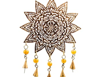 Mystical Mandala Chime - Wind Chimes - Chimes - Recycled Metal Chimes - Garden Decoration - Fair Trade -  Home Decor -