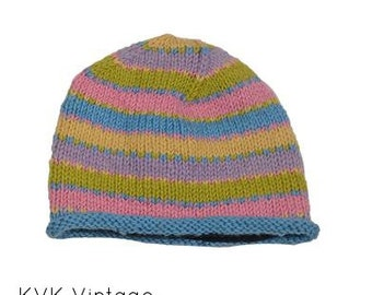 Colorful Multi-Stripe Wool Knit Cap - Knit Hats - Hats - Wool Hats - Wool Caps - Fall Hats - Winter Hats -  Skull Caps - Beanies