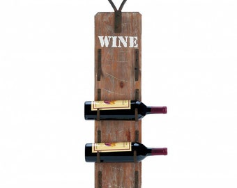 Wine Bottle Rack with Metal Handle - Wall Wine Rack - Wine Storage - Kitchen Storage - Wine Racks - Kitchen - Dining - Home Decor