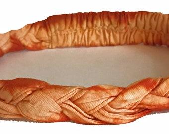 Orange Thin Braided Headband -  Bohemian Headbands - Fair Trade Headbands - Hippie Headbands