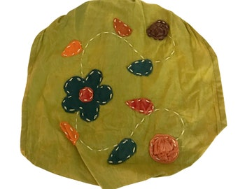 Lime Green Floral Headband - Boho Headband - Hippie Headband - Fair Trade