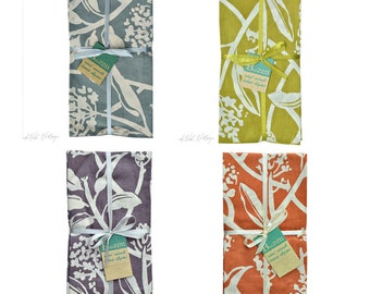 Frangipani Napkins Sets of 4 - Napkins - Fair Trade - Linens - Table Linens - Kitchen - Dining - Home - Cotton Napkins - Silk Screened