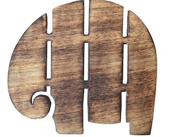 Wooden Elephant Trivet - Trivets - Wood - Fair Trade - Elephants -  Kitchen - Home Decor - Wood Trivet - Mango Wood - Fair Trade Trivet