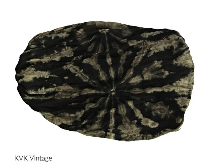 Featured listing image: Black & Tan Thai Tie Dye Headwrap - Bohemian Headband - Boho Head Wrap - Fair Trade - Wide Headband - Hippie Headwrap