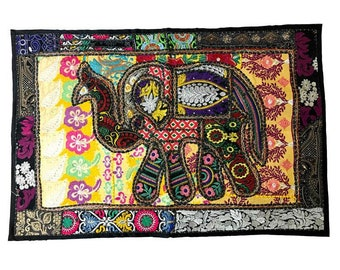 Cherished Elephant Tapestry - Wall Hangings - Wall Décor - Fair Trade - Wall Tapestries - Home Decor