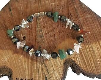 Hematite Gemstone Chip Bracelet - Hematite Bracelets - Hematite Jewelry