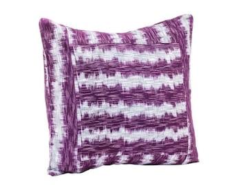 Hand-Woven Mayan Ikat Pillow Cover - Pillow Covers - Fair Trade - Home Decor - Hand Woven - Decorative Pillows - Cotton Pillow Covers