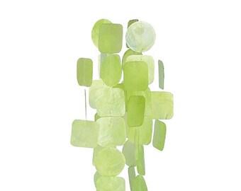 Green Capiz Shell Wind Chime - Garden Decoration - Fair Trade - Shell Chimes
