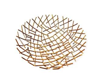 Metal Stix Bowl - Bowl - Home Decor - Baskets - Bowls - Fair Trade - Metal Bowl - Decorative Bowl - Re-Purposed Bowl - Artisan Bowl