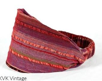 Red Multi-Stripe Headband - Headbands - Bohemian Headband - Boho Head Wrap - Wide Headband - Fair Trade - Hippie Headband
