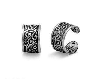 Floral Ear Cuffs - Earrings - Cuff Earrings - Wrap Earrings - Ear Cuffs - Sterling Ear Cuffs - Body Jewelry - Silver Cuff Earrings