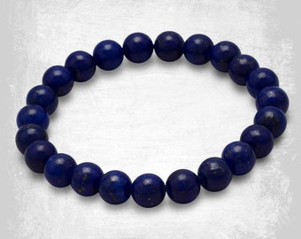 Lapis Lazuli Gemstone Bracelet - Beaded Bracelet – Lapis Stone Bracelet - Gemstone Jewelry