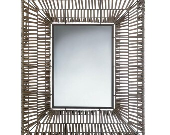 Faux Rattan Rectangular Wall Mirror - Wall Mirror - Mirrors - Decorative Mirror - Home Decor - Rattan Mirror - Rectangular Mirror