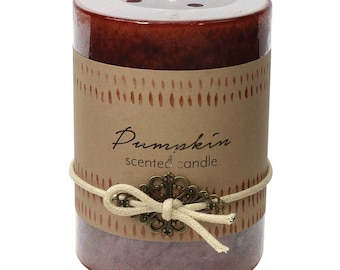 Pumpkin Pillar Candle - Christmas - Candle - Scented Candle -  Christmas Candle - Christmas Decor