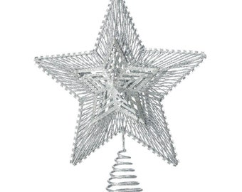 Silver Star Tree Topper - Holiday Accents - Holiday Decor - Home Decor - Ornaments - Holiday Accents - Christmas Decorations - Tree Toppers