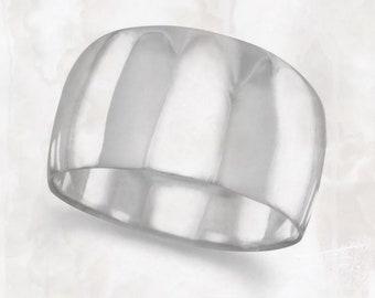 Tapered Polished Wide Band Ring - Polished Ring - Band Ring - Wide Ring - Sterling Silver Ring - Bohemian Ring - BOHO Ring - BOHO Jewelry