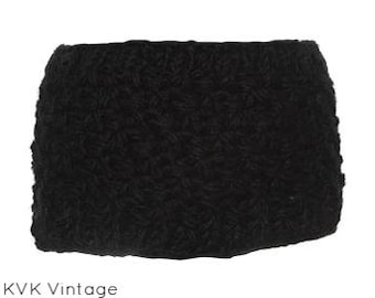 Black Textured Wool Knit Headband - Hand Knit Headbands - Hand Knit - Accessories - Wool Headbands - Fall Headbands - Headbands