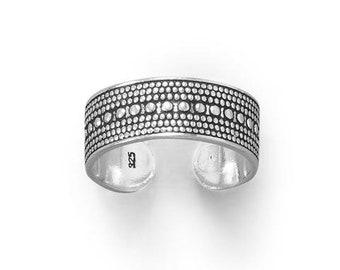 Sterling Beaded Design Toe Ring - Bohemian Toe Ring - Adjustable Toe Rings - Body Jewelry