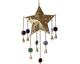 Ornate Star Chime - Wind Chimes - Garden Decoration - Fair Trade - Home Décor