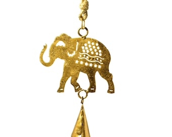 Elephant Cut-Out Chime - Metal Wind Chimes - Garden Decoration - Fair Trade