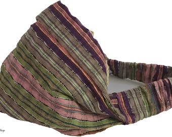 Multi Color Stripe Guatemalan Headband - Bohemian Headband - Boho Head Wrap - Fair Trade - Wide Headband - Hippie Headwrap