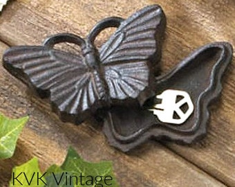 Cast Iron Butterfly Key Holder - Key Holders - Animal Key Holders - Garden Decoration - Keys - Key Hider - Cast Iron Key Hider - Butterflys