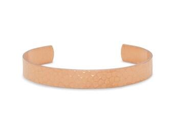9.9mm Hammered Solid Copper Cuff Bracelet - Copper Jewelry - Cuff Bracelets