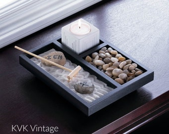 Tabletop Zen Garden - Zen Garden - Religious - Sanctuary - Home Decor - Spirituality - Meditation - Zen - Religion - Yoga - Meditate