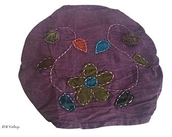 Purple Floral Headband - Boho Headband - Hippie Headband - Fair Trade